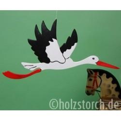 Fliegender Holzstorch – 58 cm