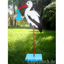 copy of Holzstorch mit Baby und Bodenplatte –...