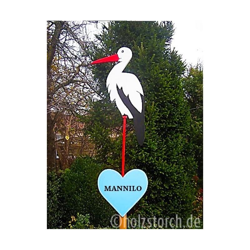Geburtsbaum Mit Storch Und Herz Individuell Beschriftet Mit Namen